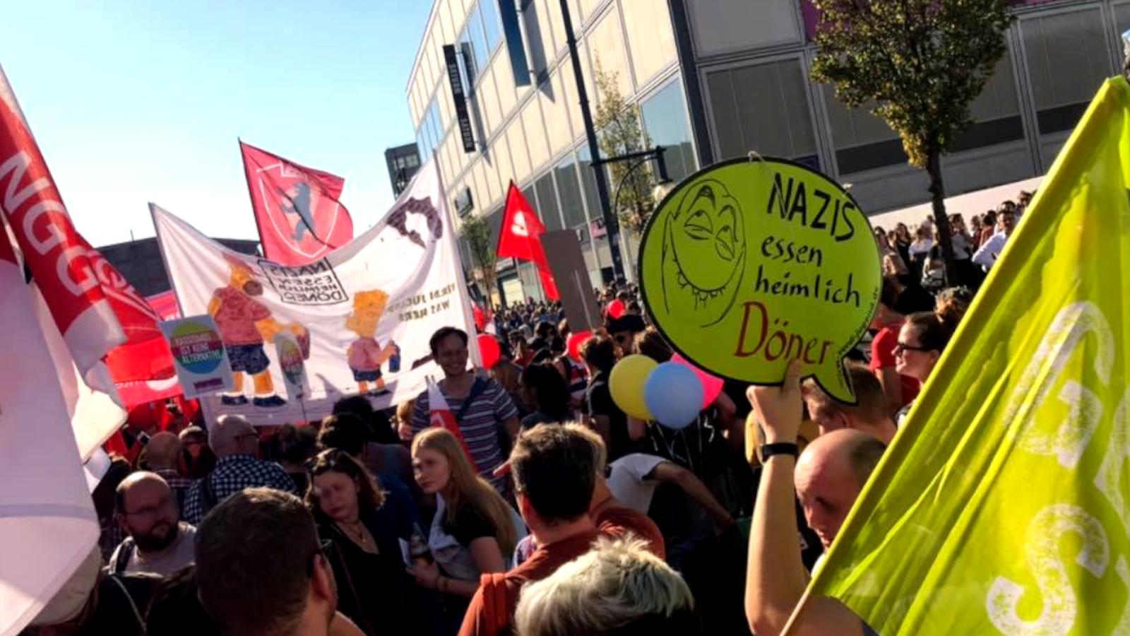 ver.di Jugend bei #unteilbar-Demo